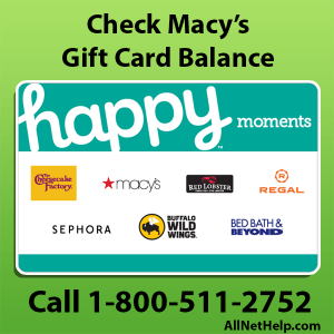 Read more about the article Macy's gift card balance check number online USA 2021
